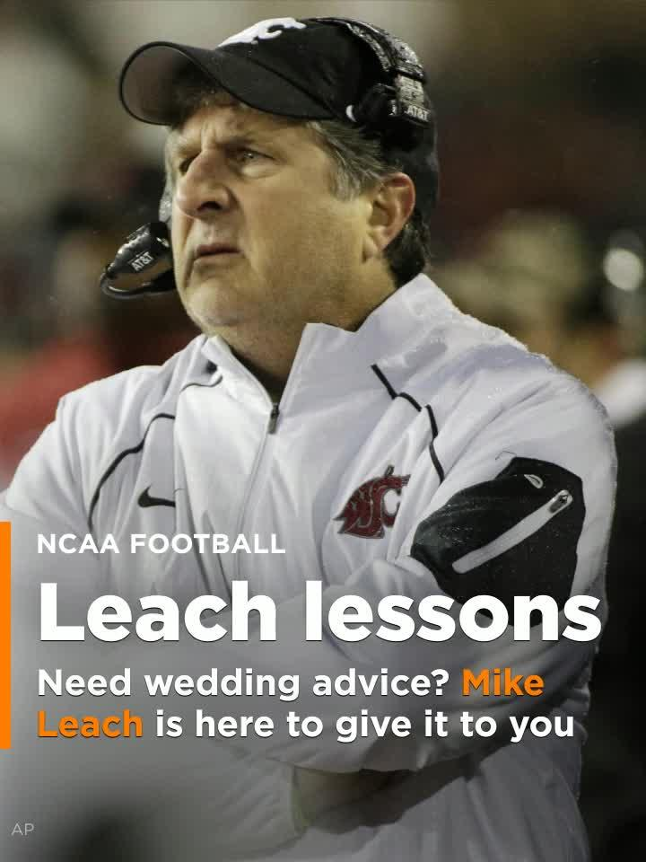 Mike Leach Wedding.Need Wedding Advice Mike Leach Is Here To Give It To You