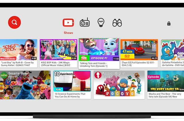 YouTube Kids brings cartoons and bright colors to your smart TV