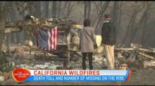 Death toll and missing people from California wildfires is rising