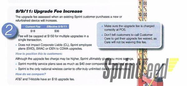 Sprint to double Upgrade Fee to $36 starting September 9th?