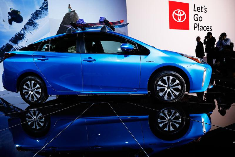 The 2019 Toyota Prius All Wheel Drive Is Introduced During A Press Conference At