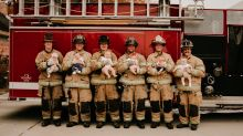 Fire department's 'baby boom' photo of 6 firefighters with newborns goes viral