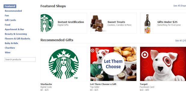 Facebook kills physical Gifts in favor of digital redemption codes