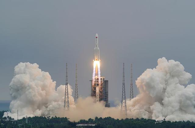 China's huge 'Long March' rocket will fall back to Earth this weekend