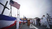 US Navy dedicates Japan-based destroyer to US Sen. McCain