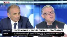 """Éric Zemmour face à Michel Onfray : """"Remarquable"""", """"fantastique"""", """"captivant""""... Un débat respectueux et bienveillant applaudi par les internautes"""