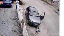 Brésil : Un homme roule par inadvertance sur son neveu ! (Vidéo)