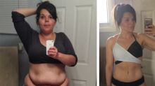 Teacher halves her weight after husband emails to say he's not returning