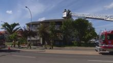 Fire breaks out in west Edmonton apartment building