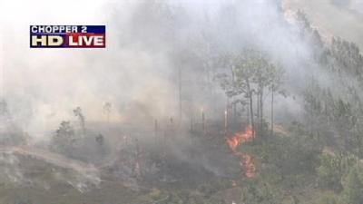 Brush Fire Closes I-4 Near South I-Drive