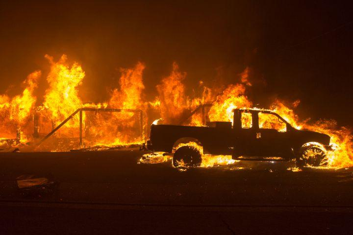 How California erupted in flames overnight
