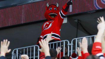 Devils mascot smashes through window at children's party