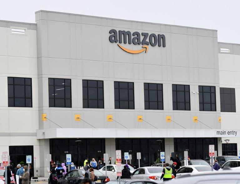 Amazon has faced worker protests such as this one at a New York warehouse as it seeks to show its role in helping deal with the COVID-19 pandemic (AFP Photo/Angela Weiss)