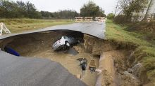 Texas sheriff's deputy killed after driving into sinkhole