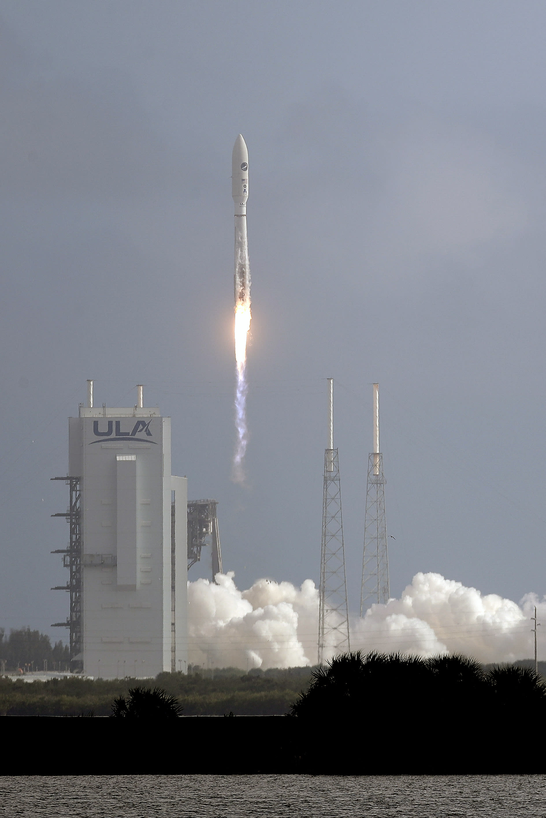 A United Launch Alliance Atlas V rocket stands lifts off from Launch Complex 41 at the Cape Canaveral Air Force Station, Sunday, May 17, 2020, in Cape Canaveral, Fla. The mission's primary payload is the X-37B spaceplane. (AP Photo/John Raoux)
