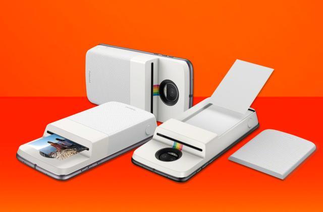 Motorola's new Mod is a snap-on Polaroid photo printer