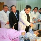Kim Jong Un visits survivors of tourist bus crash