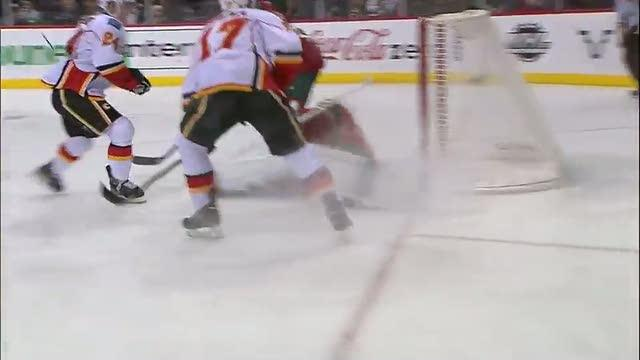 Jiri Hudler scores on the give-and-go