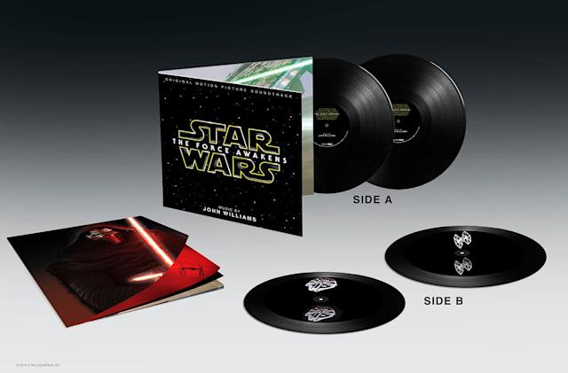 'The Force Awakens' vinyl soundtrack is etched with holograms