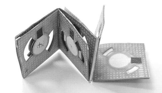 Bacteria-powered folding batteries could power paper biosensors