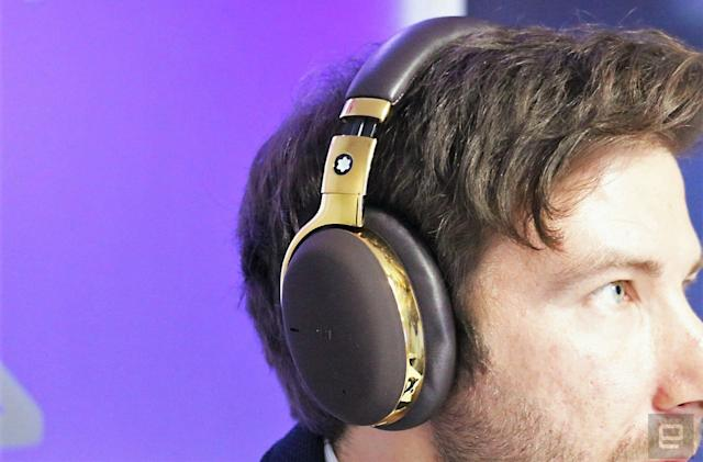 Montblanc's first wireless headphones cost a steep $600