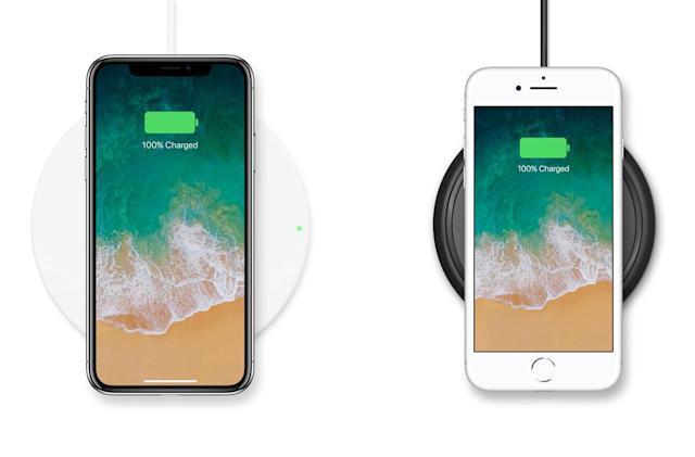 Belkin and Mophie offer wireless charging pads for the new iPhones