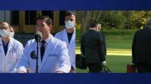 """Trump """"va bien"""", ses """"symptômes s'améliorent"""", annonce l'équipe médicale du président américain"""