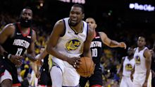 Joe Lacob confident about Kevin Durant's status: 'He's coming back now for the Finals'