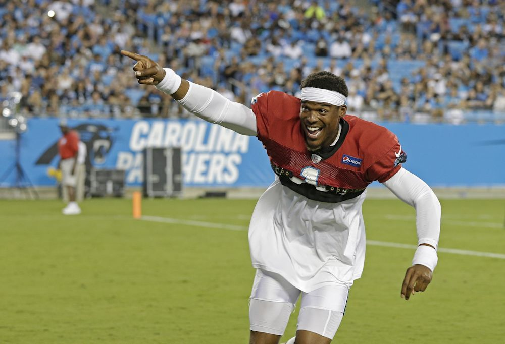 The Panthers have been cautious in Cam Newton's return from shoulder surgery. (AP)
