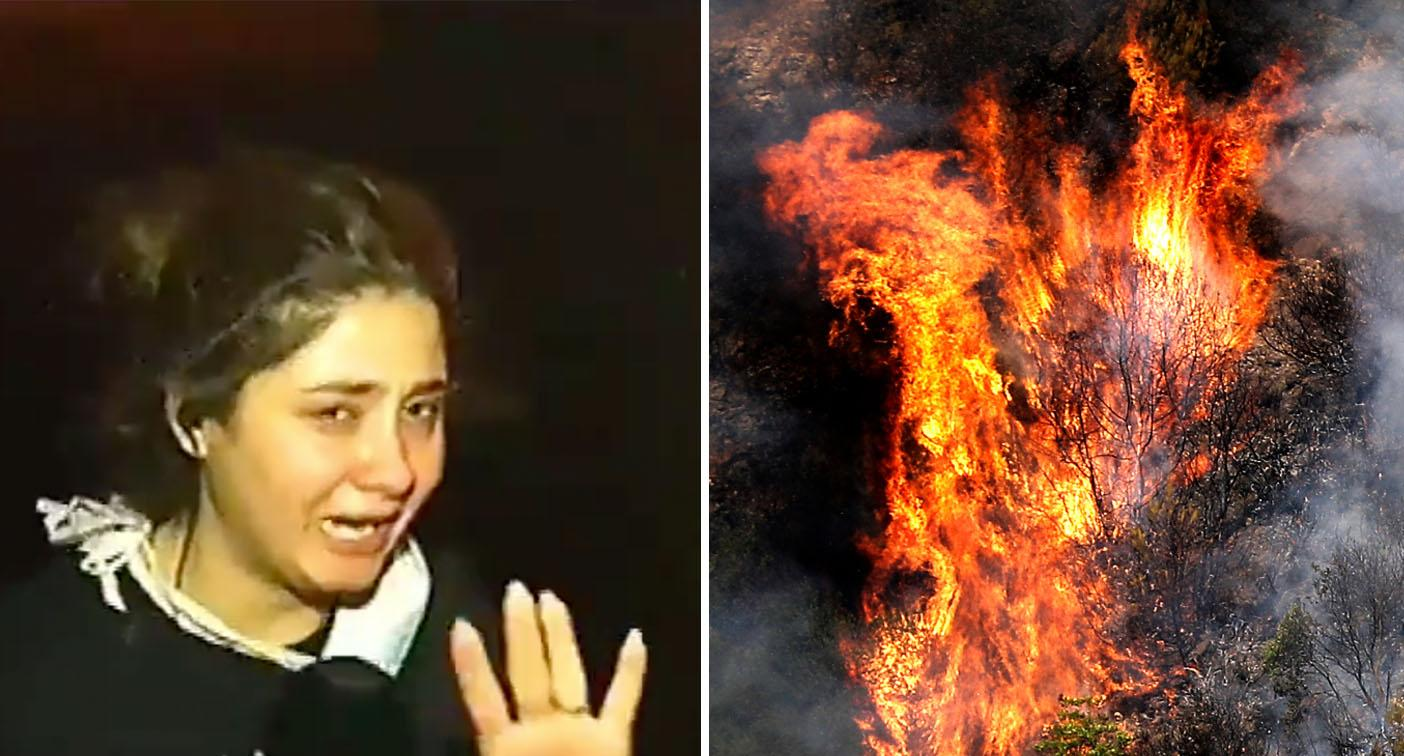 Reporter breaks down hearing people scream for help in bushfires
