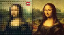 Masterpiece Paintings Recreated In Lego Pixels