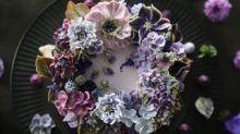 Bellos pasteles que parecen ramos de flores