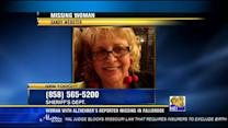 Woman with Alzheimers reported missing in Fallbrook