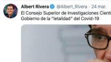 Albert Rivera difunde una noticia del CSIC para atacar al Gobierno y el CSIC la desmiente