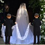 Meghan Markle's 5-METER-Long Veil Absolutely Stole the Show at the Royal Wedding