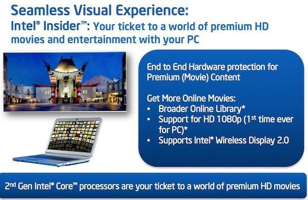 Intel to launch Insider movie service with 1080p content, WiDi 2.0 will let you stream it to your TV
