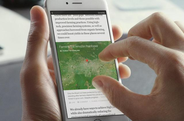 Facebook's Instant Articles will no longer appear in Messenger