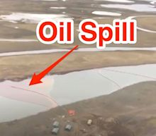 A Russian mining company spilled 20,000 tons of oil in the Arctic Circle, turning a river red and enraging Putin