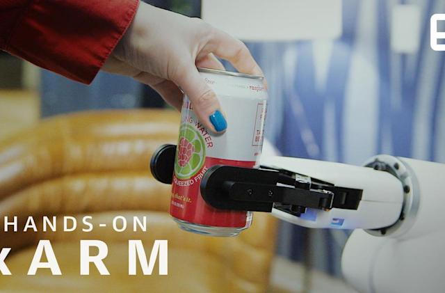 xArm looks like a 1950s sci-fi robot, and works like one too