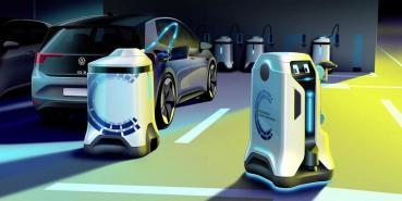 廣設充電站的另一解方?VW以自動充電機器人展現電動車未來願景