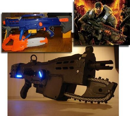 The Gears of War Nerf Lancer modification scares a locust horde of parents