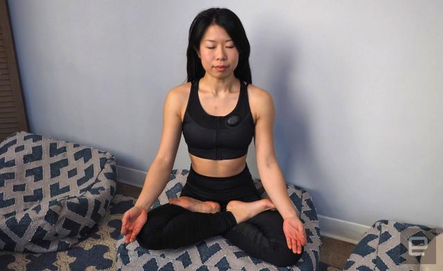 A vibrating smart bra keeps tabs on how zen you feel