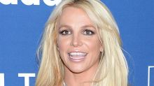 Britney Spears Shows Off Her Dance Moves in a Crop Top, Low-Rise Shorts & Chunky Heels