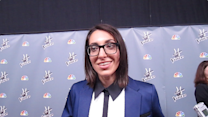 Michelle Chamuel Backstage at 'The Voice'