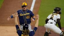 Burnes whiffs 10 in 6 innings, Brewers blank Padres 6-0