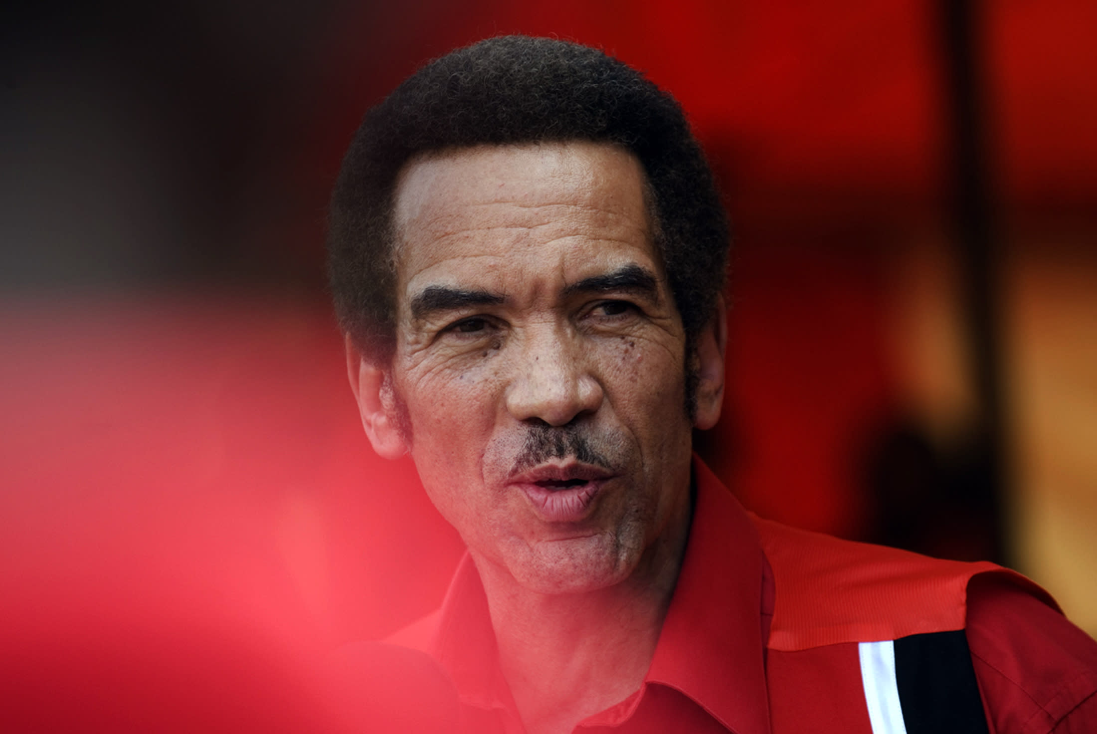 The President of Botswana and leader of the Botswana Democratic Party (BDP) Seretse Khama Ian Khama addresses a pre-election rally in Gaborone on October 10, 2009
