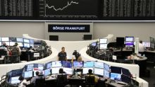 European shares end lower as Italy's political crisis weighs