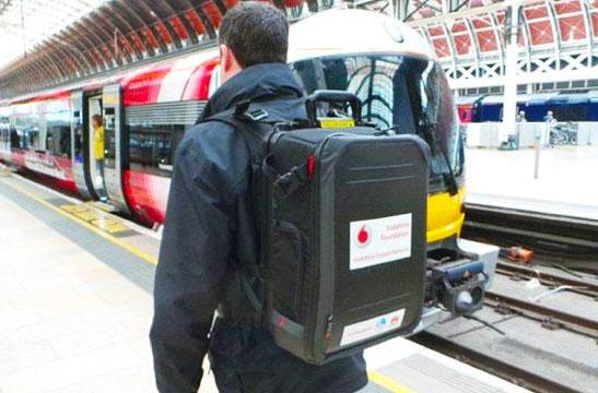 Vodafone's network in a backpack connects people after natural disasters