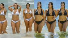 Even supermodel Ashley Graham gets shy wearing a swimsuit