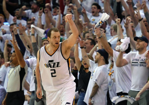 Joe Ingles has developed into the sort of 3-and-D wing every good NBA team needs. (Getty)